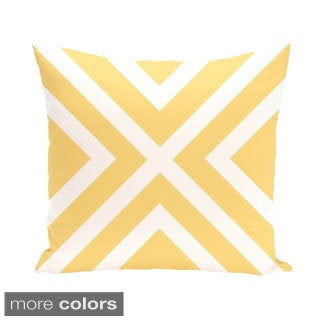 X' Stripes 20-inch Square Decorative Pillow
