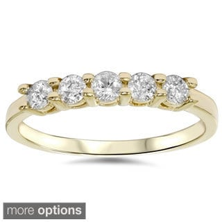 14k Gold 1/ 2ct TDW 5-stone Diamond Ring (I-J, I2-I3)