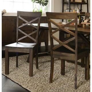 Audrey Acacia Wood Side Chair