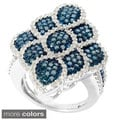 Sterling Silver 1.75ct TDW Color Diamond Pave Fashion Ring (H-I,I2-I3)