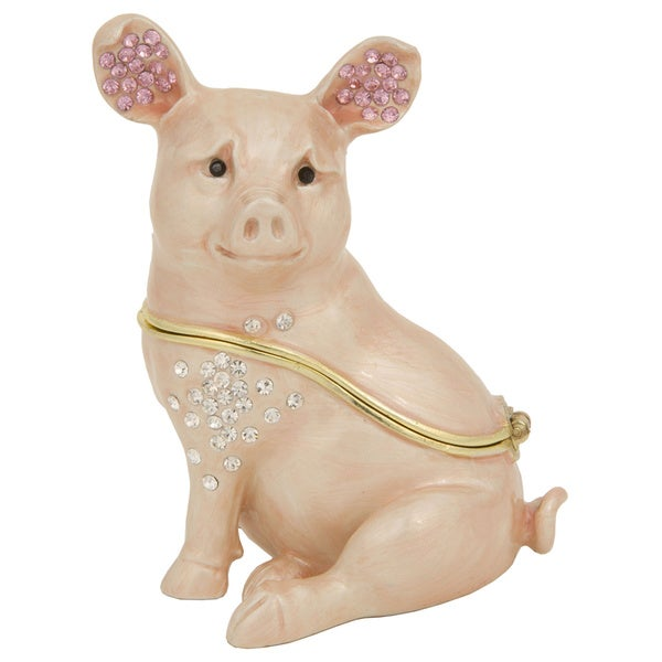 Porky the Pig Trinket Box with Pendant