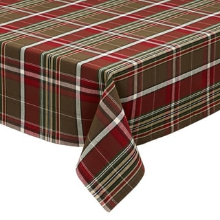 "Design Imports Forest Ridge Plaid Tablecloth (52"" x 52"")"