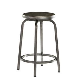 Signature Design by Ashley Hattney Round Drum Counter Barstools (Set of 2)