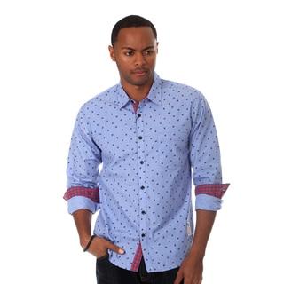 Something Strong Men's Novelty Print Shirt in Blue