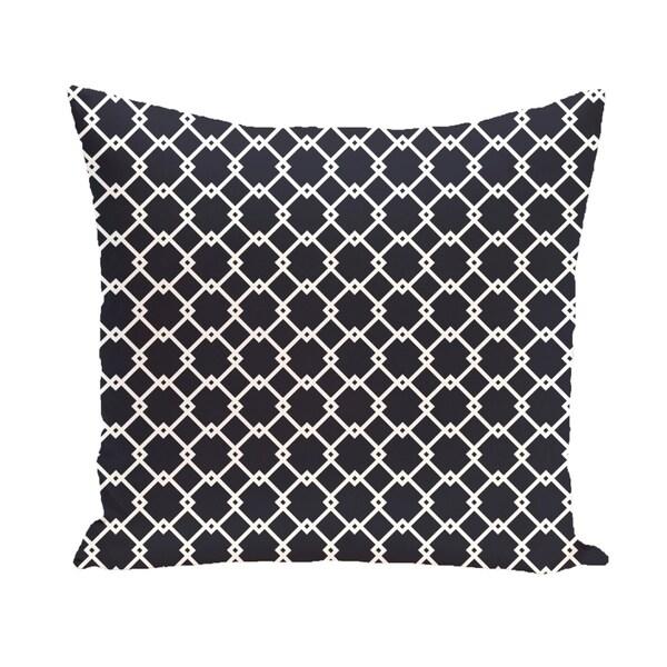 Trellis Diamond Geometric 26-inch Square Decorative Pillow