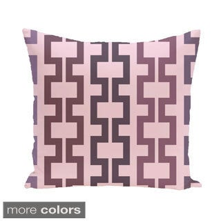 Geometric Tribal 26-inch Square Decorative Pillow