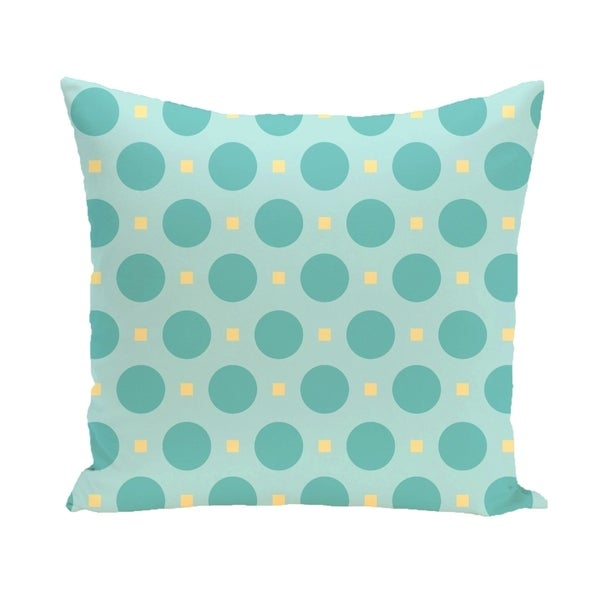 Abstract Polka-dot Geometric 26-inch Square Decorative Pillow