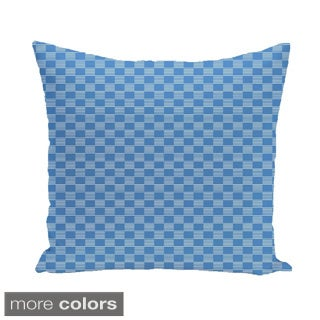 Abstract Check Geometric 20-inch Square Decorative Pillow