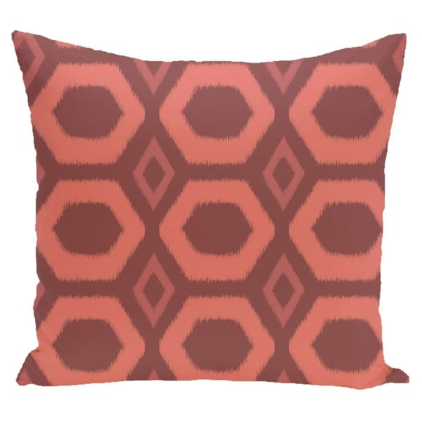 Large Geometric Honeycomb 20-inch Square Decorative Pillow