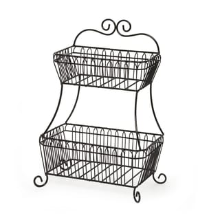 French Countryside 2-tier Flat Back Basket