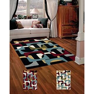 Tess Retro-style Area Rug (5'3 x 7'2)