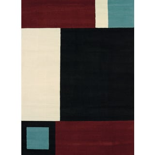Erin Black Polypropylene Area Rug (7'10 x 10'6)