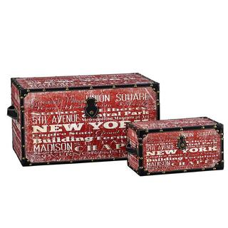 Large and Small New York Design Trunk (Set of 2)