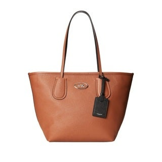 Coach Taxi Zip Top Leather Tote