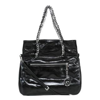MICHAEL Michael Kors Black Lacey Large Fold Over Tote