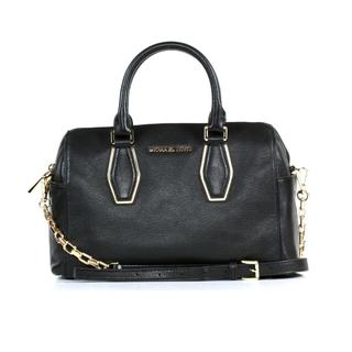 Michael Kors Vanessa Medium Black Chain Satchel Handbag
