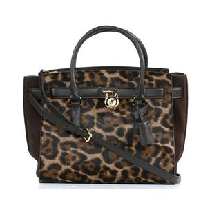 MICHAEL Michael Kors Hamilton Traveler Large Leopard Traveler