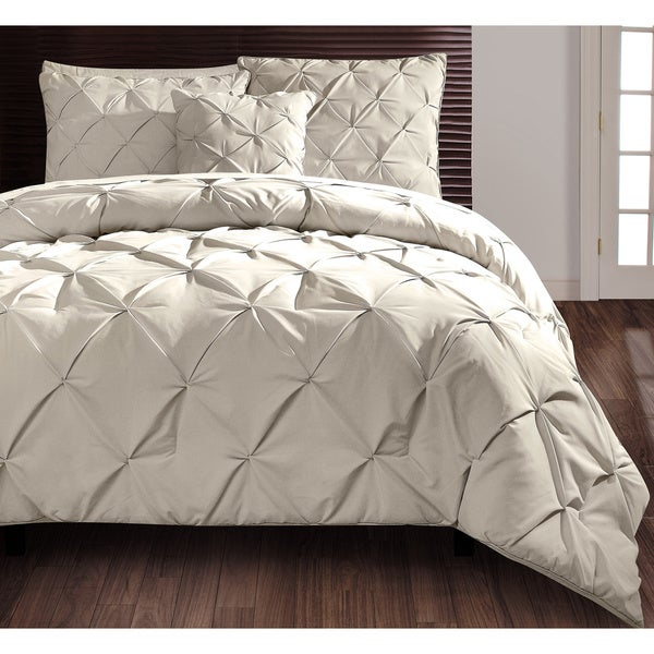 Carmen 4-piece Taupe Comforter Set - Queen Size in Grey (As Is Item)