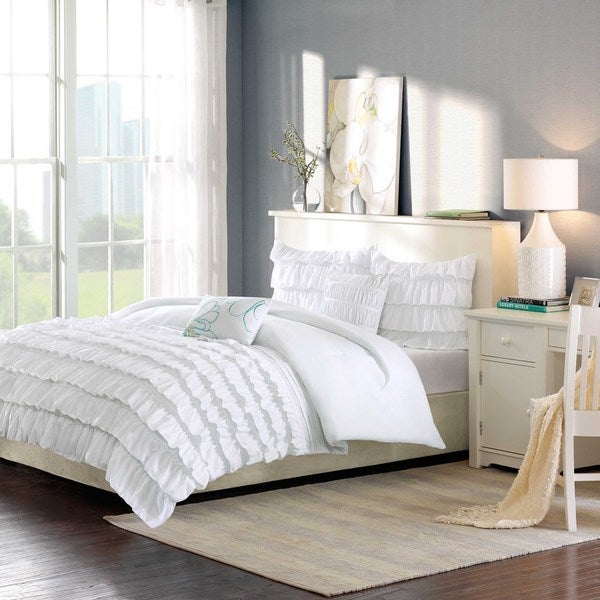 Intelligent Design Demi 3-piece White Comforter Set - Twin/TwinXL (As Is Item)