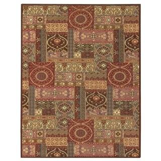 Grand Bazaar Tufted Wool & Viscose Artivia Rug in Rust 2' x 3'