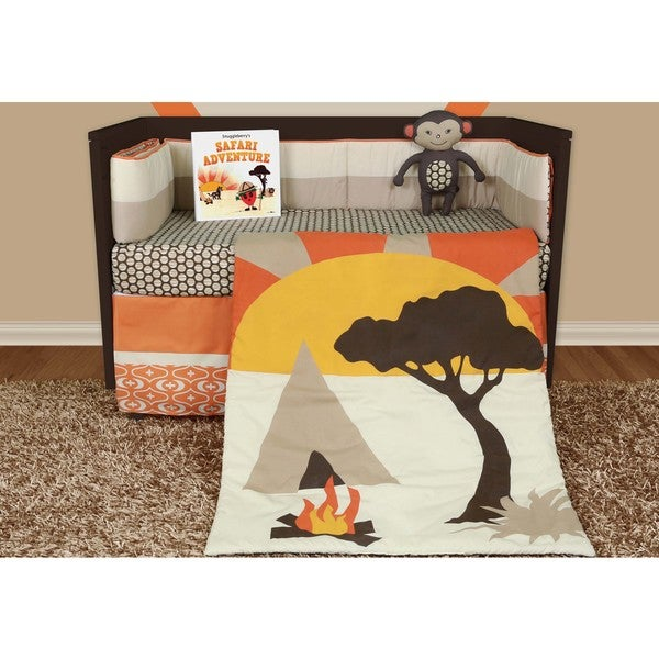 Snuggleberry Baby African Dream 6-piece Crib Bedding Set with Storybook
