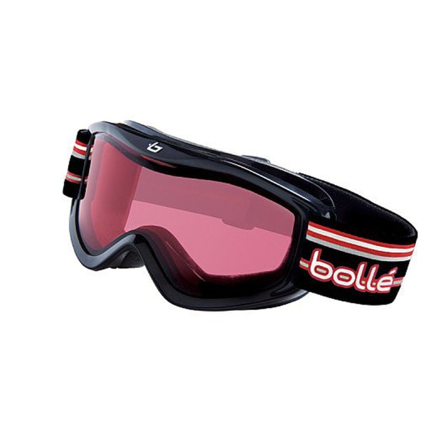 Bolle Kids Volt Goggles, Black Stripes Frame Vermillion Lens