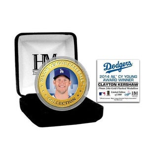 Clayton Kershaw 2014 NL Cy Young Gold Color Coin