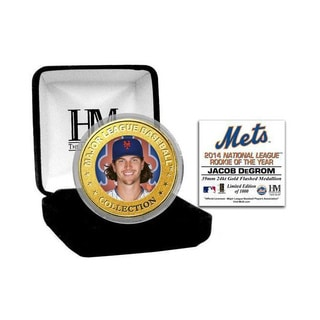 Jacob DeGrom 2014 NL ROY Gold Color Coin