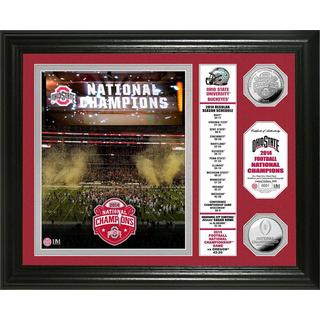 Ohio State 2014 College Football National Champions Banner Silver Coin Photo Mint