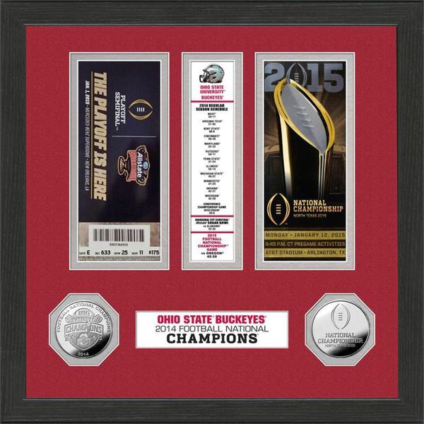 Ohio State 2014 Football National Champions Minted Coin Ticket Collection