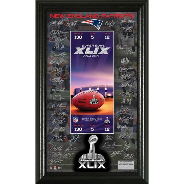 New England Patriots Super Bowl 49 Signature Ticket