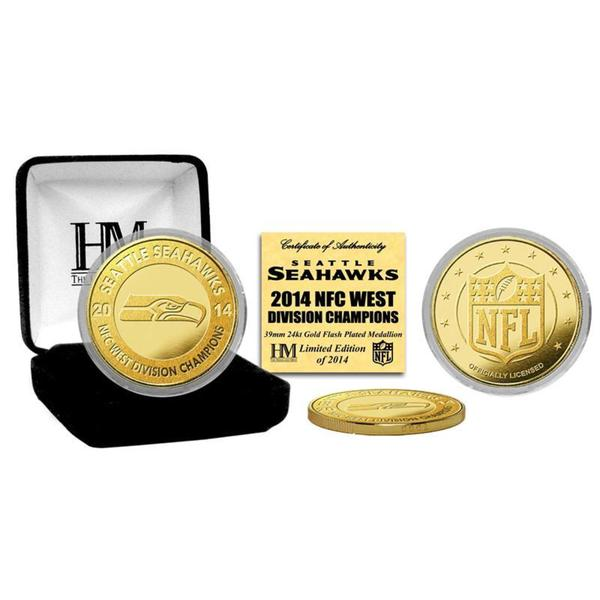 Seattle Seahawks 2014 NFC West Champions Gold Mint Coin