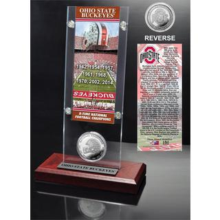 Ohio State University 8-Time National Champions Ticket and Minted Coin Acrylic Desk Top