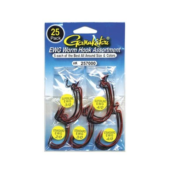 Gamakatsu EWG Worm Hook Assortment