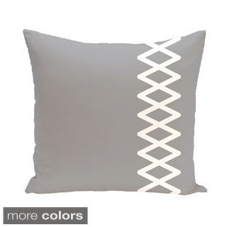 Side Diamond Stripe Geometric 18-inch Decorative Pillow