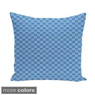 Static Check Geometric 16-inch Decorative Pillow