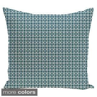Abstract Trellis Geometric 18-inch Decorative Pillow