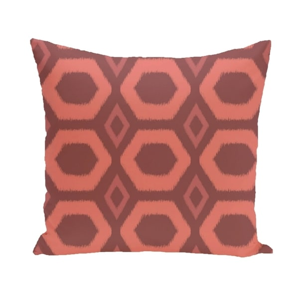 Large Honeycomb Geometric 18-inch Decorative Pillow