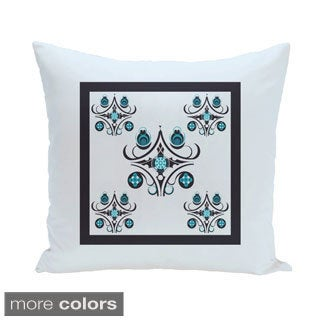 Bordered Abstract Geometric 20-inch Decorative Pillow