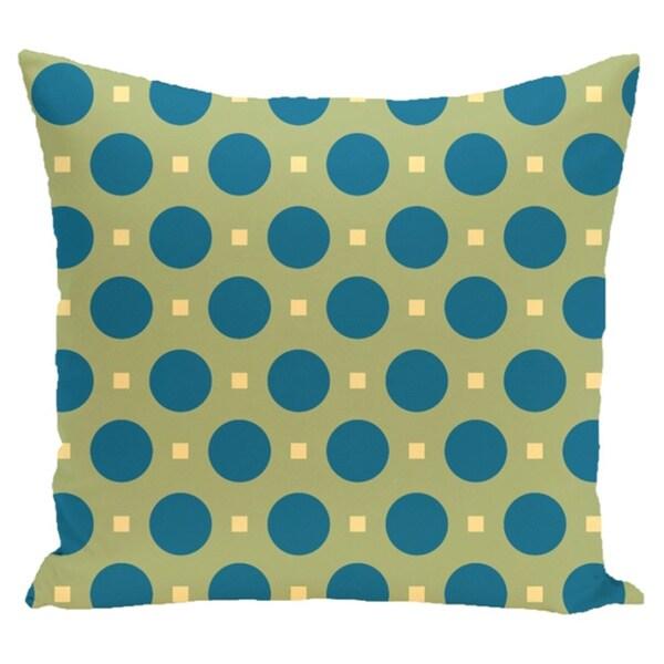 Abstract Poka-dot Geometric 20-inch Decorative Pillow