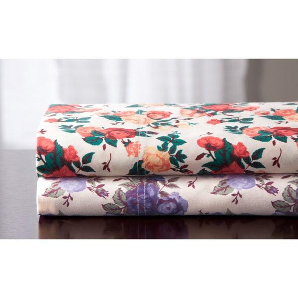 Rose Garden Cotton 350TC Cotton Rich Print Sheet Set
