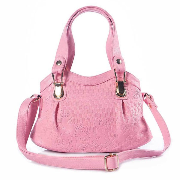 Bubblegum Pink Quilted Faux Leather Tote Bag