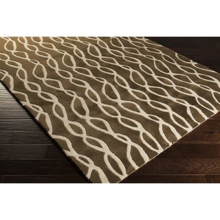 Hand-Tufted Viviana Geometric Wool Rug (8' x 11')