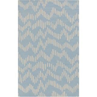 Hand-Tufted Wendell Geometric Wool Rug (8' x 11')