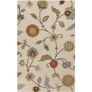 Hand-Tufted Timothy Floral Pattern Indoor Rug (3'3 x 5'3)