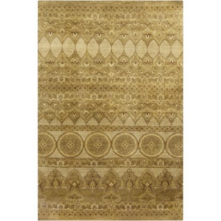 Hand-Knotted Yasmin Medallion New Zealand Wool Rug (9' x 13')