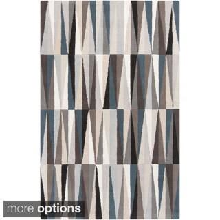 Hand-Tufted Roxanne Geometric Pattern Wool Rug (2' x 3')