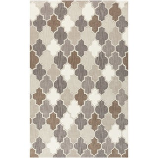 Hand-Tufted Randall Geometric Pattern Wool Rug (9' x 13')