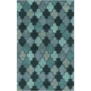 Hand-Tufted Randall Geometric Pattern Wool Rug (8' x 11')