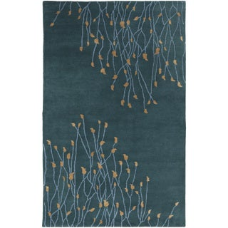 Hand-Tufted Charles Floral New Zealand Wool Rug (3'3 x 5'3)